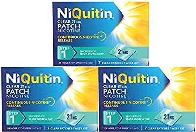 NiQuitin Clear 21mg Nicotine Patch (Step 1) 21 Patches - 3 Week Kit by GlaxoSmithKline