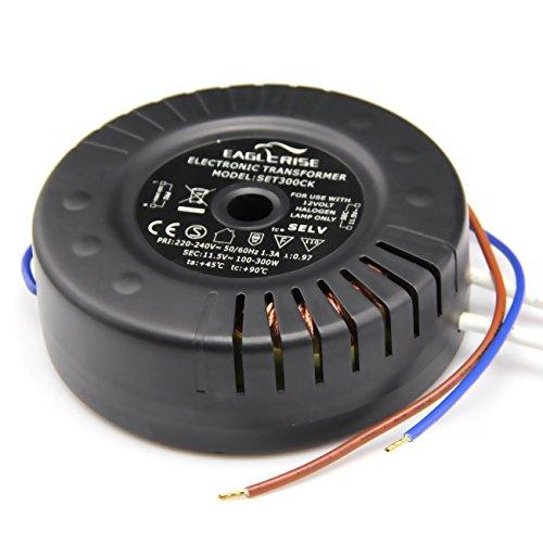Eaglerise SET250CK Elektronischer Halogen Trafo RUND AC 230V auf AC 12V 100W-250W Trafo Transformer Transformator Treiber für NV-Halogen Lampe RUND - Halogen-kompakt