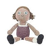 Sebra Häkel-Puppe,Daisy, Stoffpuppe, Weichpuppe, Mädchen, Handmade, 40cm 100% Baumwolle NEU Sebra0405