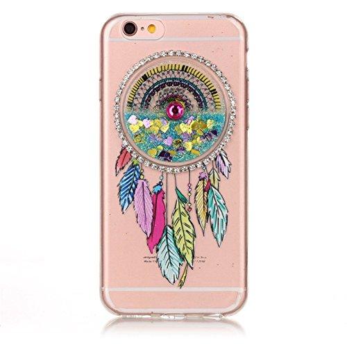 Custodia per Apple iphone 6,Custodia per Apple iphone 6S,Haikingmoon trasparente Sparkle Brillantini gel silicone protettiva Cover per Apple iPhone 6 / 6S (4,7 Pollice) - Viola Azzurro