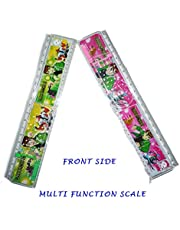 Sabka Bazaar Multi Function Scale With Ball Game & Puzzle For Return Gifts, School Kids, Multi Purpose (Pack of 12)