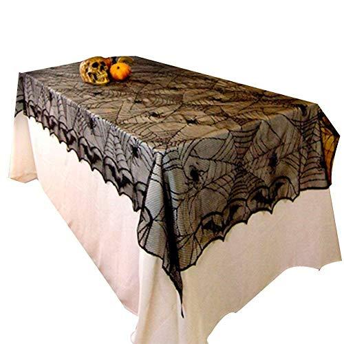 CLEAVE WAVES Halloween Spitze Tischdecke Fledermaus Spinnennetz Für Halloween Party Decor 48