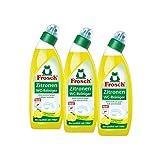 3x Frosch Zitronen WC-Reiniger 750 ml - Kalklösend mit Zitrone