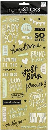 Unbekannt Me & My Big Ideas mambisticks, Sticker, Baby Boy Just Born - Chipboard Album Kit