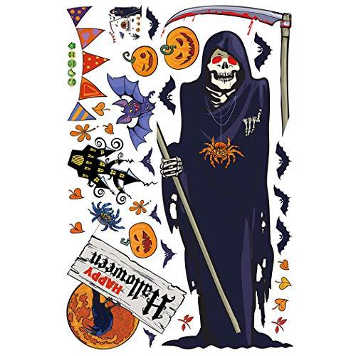 JUSTDOLIFE Halloween Wall Sticker Abnehmbare Beängstigend Dekorative Wall Decal Wall Decor Sticker