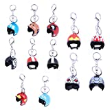 #1: Tomtopp Motorcycle Helmets Key Chain Women Men Cute Safety Helmet Car Keychain(8)
