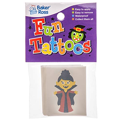 """Baker Ross Tattoos """"Halloween"""" für Kinder – perfekt als kleine Überraschung für Halloween-Partys (24 Stück) - 2"""