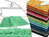 die extra Streicheleinheit für Ihre Füße in Markenqualität - Mikrofaser Badteppich - erhältlich in 13 modernen Farben und 6 verschiedenen Größen -, mint, 50 x 45 cm ohne Ausschnitt