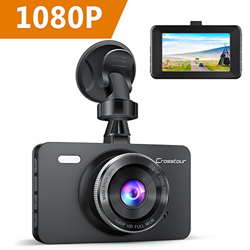Crosstour AutoKamera 1080P Full HD, Dash Cam 12MP 3