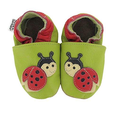 HOBEA-Germany Krabbelschuhe in verschiedenen Farben und Designs mit Tieren , Schuhgröße:20/21 (12-18 Monate);Modell (Mädchen Schuhe Marienkäfer)