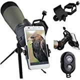 AccessoryBasics Binocular Spotting Scope Telescope Microscope periscope adapter Mount for iPhone 6s 6 SE Galaxy Note S7 Note 7 Edge LG G5 V10 Smartphone video image recording (FREE BLUETOOTH SHUTTER)