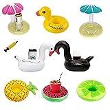 LIRANK aufblasbar Drink Cup Halter schwimmt schwimmende Untersetzer mit Mini Air Pumpe für Pool Party