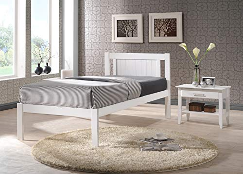 Humza Amani Glory White Wooden Slatted Bed available in 3FT Single, 4FT Small Double or 4FT6 Double (4FT Small Double)