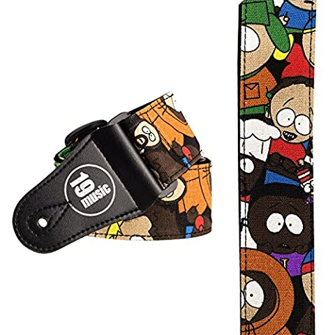 Sangle Guitare Multicolore Personnages TV Cartoon Animation South Park (1542)