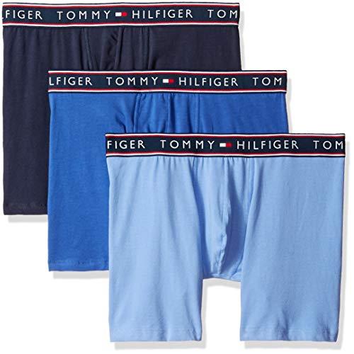 Tommy Hilfiger Herren Cotton Stretch Boxer Brief Slip, Persian Blue, Large (Hilfiger Cotton Tommy Spandex)