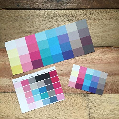 Set Großer und kleiner Farbpass, Make-Up-Pass Sommer, Sommertyp, Farbkarte, Sommerfarben Sommertyp,kalter Farbtyp, Farbfächer, Farbberatung, Typberatung, Farbkarten, Farbpalette