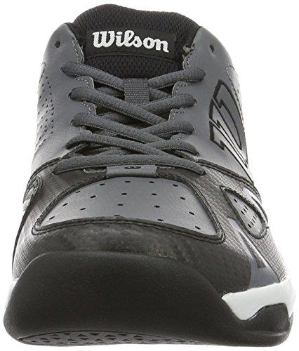 Wilson Scarpe da Tennis da Uomo, Ideali per Giocatori di Tutti i Livelli, per Ogni Terreno di Gioco, Rush Open 2.0, Tessuto/Sintetico Grigio (Iron Gate/Black/White)