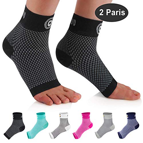 CAMBIVO 2 Paar Sprunggelenk Bandage, Knöchelbandage, Fußbandage für Herren und Damen, Kompressionsstrümpfe, Kompressionssocken für Sport, Fussball, Fitness, Volleyball