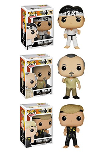 Funko The Karate Kid POP! Movies Collectors Set: Daniel Larusso, Mr. Miyagi, Johnny Lawrence Action Figure by FunKo