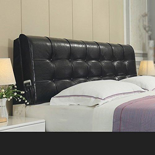 HFF Mode langes Kissen/Sofa zurück/Leder doppelte Rückenlehne/Nachtkissen/Leder weiche Auflage (Color : B, Size : 120 * 60 * 10cm)