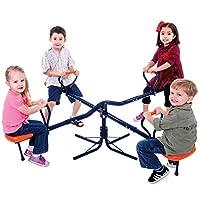 MV Toys Hedstrom Kids Rotating Roundabout Seesaw Adjustable Children Toddler Garden Set
