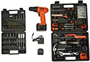 BLACK+DECKER CD121K50 12-Volt Cordless Battery Powered Drill/Driver Kit with BMT126C Hand Tool Kit - 50 Pieces
