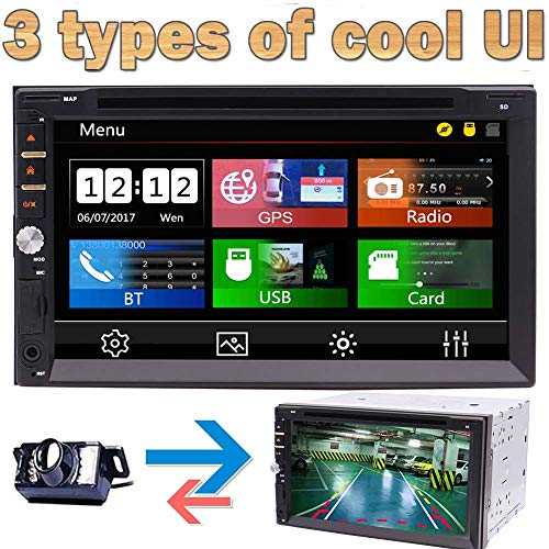 Eincar Win 8 Auto-Stereoradio Double 2 Lärm-Auto-DVD-Video-Player 3 Arten von UI Bluetooth GPS Navigation 8G freiem GPS-Diagramm Errichtet im USB-Sd Mikrofon 7 Zoll Multi-Touch Screen + Free Backup-Ka - Diagramm Hören