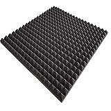 mail2mail Pyramiden-Schaumstoff-Daemmung-platten Dämmung Schaumstoff Akustik Flammhemend PC ca.100 x 50 x 3 cm Anthrazit/Schwarz