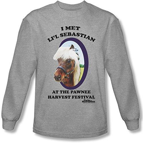 Parks & Recreation - Männer Li'L Sebastian Langarm-Shirt In Heather Heather