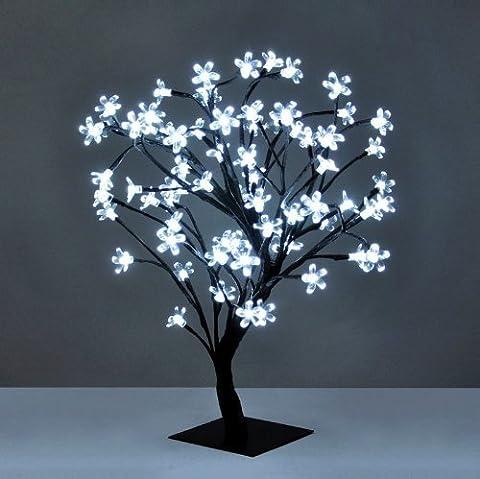 MiniSun - Decorative Cherry Blossom Bonsai Style Tree Table Lamp Light With 72 Glorious White LED's - 45cm