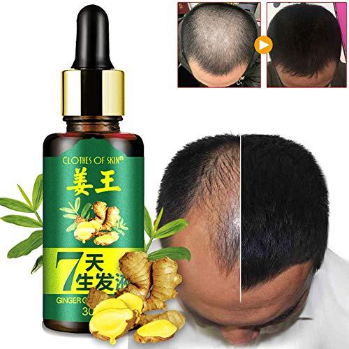 Bbl345dLlo Haarwachstumsserum, 7 Tage Haarwachstum, Pflege Ingwer, ätherisches Öl, pflegend für trockenes geschädigtes Haar, Haarausfall Nutrition Tool