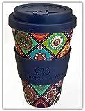 EXOTICA von Happy Earth (Wiederverwendbare Öko-Kaffeetasse 450ml, mit Bio-Bambus Naturfaser, kann als Reisebecher oder Kaffee-Tasse zu Hause verwendet werden)