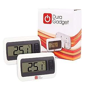 DURAGADGET Twin Pack Indoor LCD Room Temperature