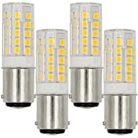 MENGS® 4 pezzi B15D 5W Lampada LED 44x2835 SMD LEDs Lampadina AC 220-240V Bianco caldo 3000K