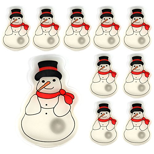 Confezione da 10 gel riutilizzabile dello scaldino della mano Heat Pack - confezioni Riscaldamento istantanea (pupazzo di neve)