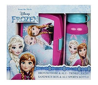 """Scooli Undercover FRSW9881, con bandeja de comida, lonchera, contenedor de comida y botella de aluminio - la mejor manera de traer un bocadillo a la escuela - serie """"Disney Frozen"""" de Undercover GmbH"""