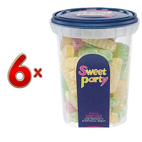 Sweet Party Cup Zure Friten 6 x 190g Runddosen (Saure Pommes)