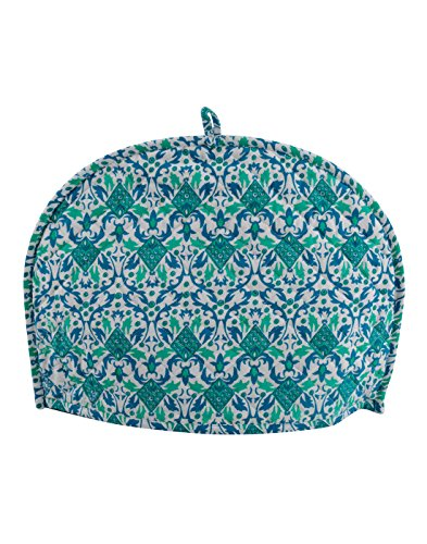White Tea Cosy Cotton Arts and Craft Green Tea Cozy kettle cover...