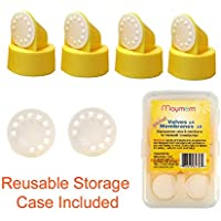 Replacement Valve and Membrane for Medela Breastpumps (Swing, Lactina, Pump in Style), 4x Valves/6x Membranes, Part #87089 by Maymom (English Manual)
