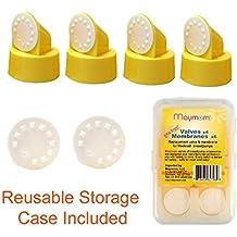 Válvula y membrana de recambio para extractor de leche Medela (Swing, Lactina y Pump in Style), 4 válvulas/6 membranas, número de pieza 87089; reemplaza la válvula y membrana Medela de Maymom