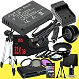 Canon EOS M 18 MP CMOS Mirrorless Digital SLR Camera LP-E12 Lithium Ion Replacement Battery + External Rapid Charger + 32GB SDHC Class 10 Memory Card + 43mm 3 Piece Filter Kit + Full Size Tripod + SDHC Card USB Reader + Memory Card Wallet + Deluxe Starter