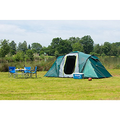 Coleman Spruce Falls 4 Vis a Vis Tent ...  sc 1 st  UK Sports Outdoors C&ing Hiking Jogging Gym fitness wear Yoga & Coleman Spruce Falls 4 Vis a Vis Tent - 4 Person Green with ...