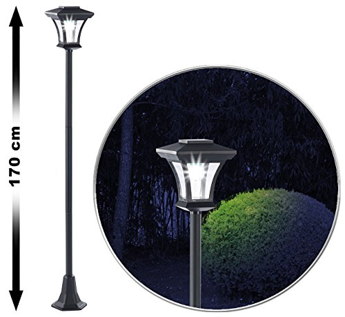Royal Gardineer Gartenlampe: Solar-LED-Gartenlaterne SWL-20, 0,18 Watt, 12 Lumen, IP44, 170 cm hoch (Solar Laterne Außen)