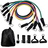 CUXUS Resistance Bands Widerstandsband Set- 5 Widerstandsbänder aus Latex,...