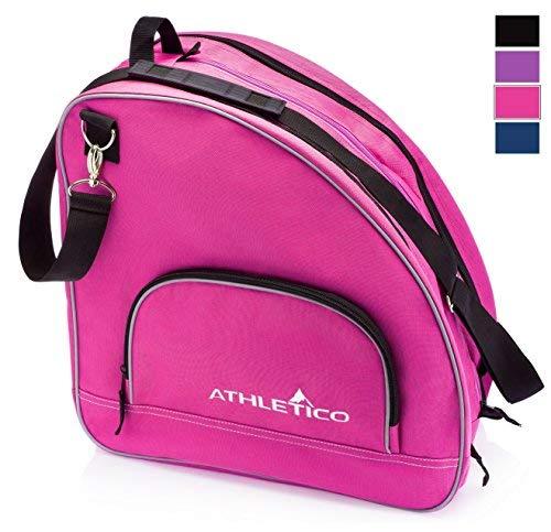 Athletico Schlittschuhtasche - Premium Tasche zum Tragen von Schlittschuhen, Rollschuhen, Inlineskates für Kinder und Erwachsene, Rose