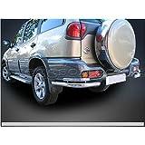 Nissan Terrano acero inoxidable parachoques trasero protectores de barra de esquina 2014