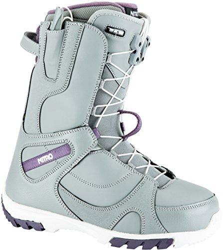 Nitro Snowboards Damen Cuda Tls'18 Snowboard Boot, Grey, 26,5 (Womens Burton Boots Boa Snowboard)