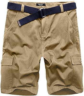 Wantdo Herren Shorts Baumwolle Combat Cargo kurze Shorts
