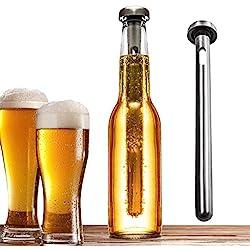 Bastón de refrigeración para Cerveza (2unidades), fabricado en acero inoxidable de alta calidad, de Grand Kitchener