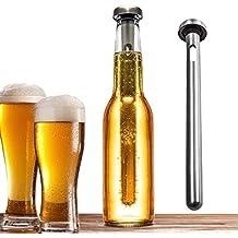 Bastón de refrigeración para cerveza (2 unidades); fabricado en acero inoxidable de alta